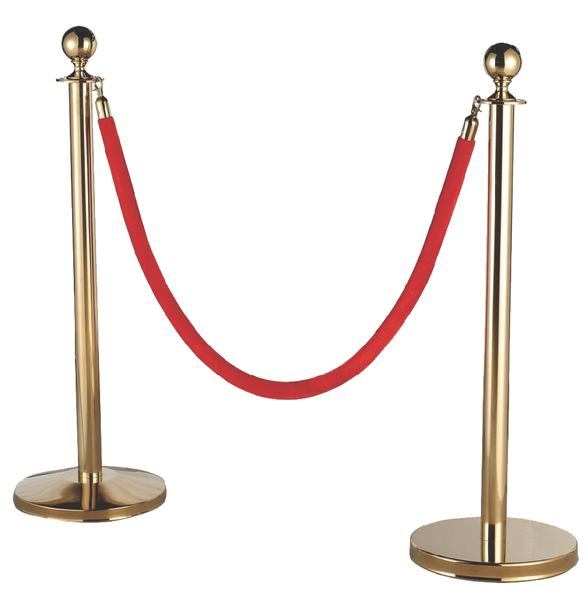 Silver or Gold Railing Stand With Red Rope